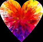 Ett hjärta i regnbågens färger