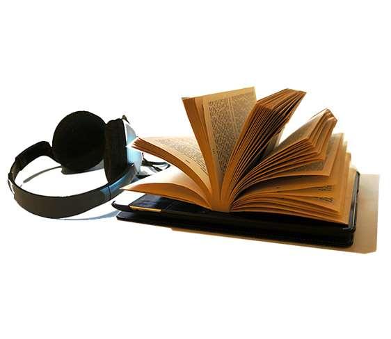 Bild på ipad med hörlurar