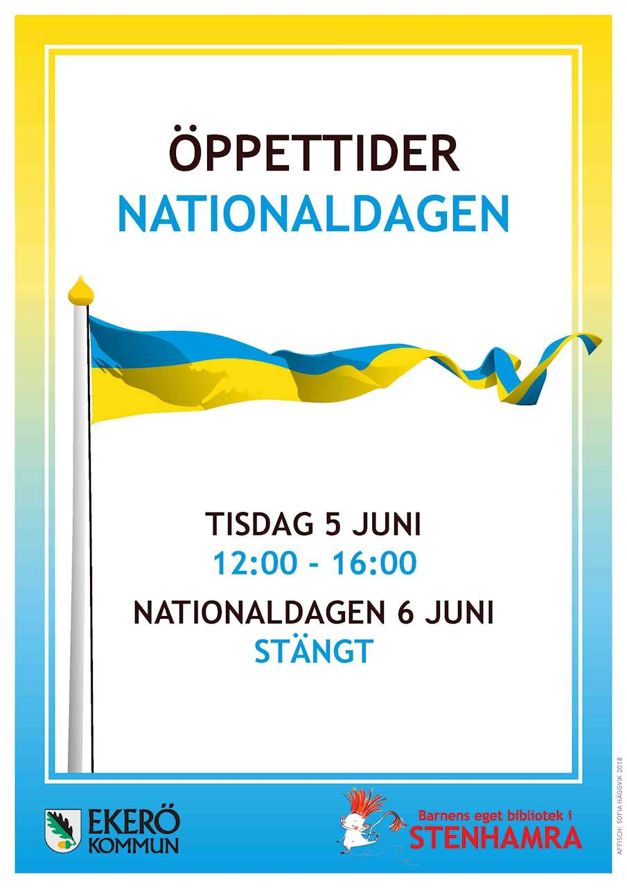 Öppettider på nationaldagen