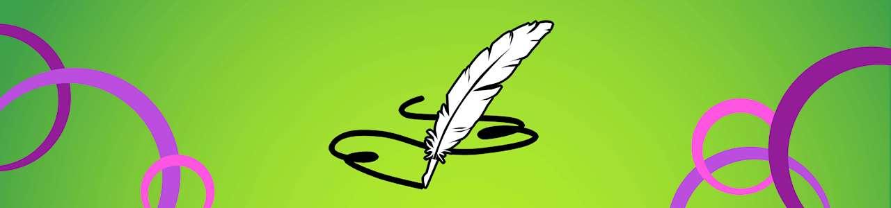 Bild på en fjäderpenna