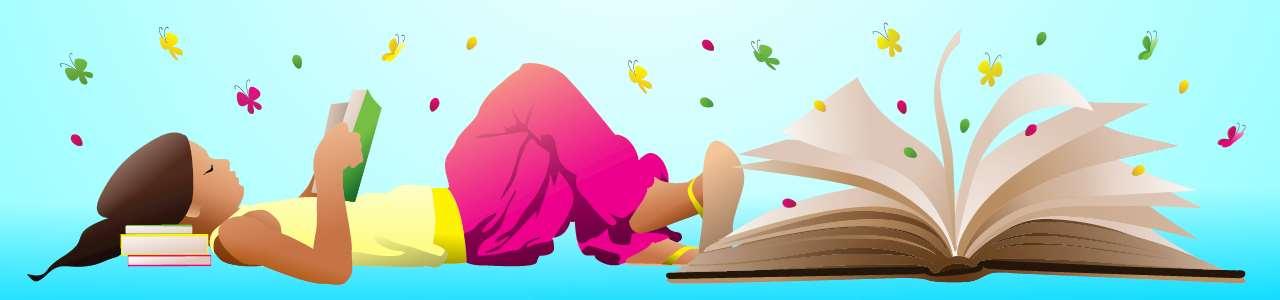 Bild på ett läsande barn